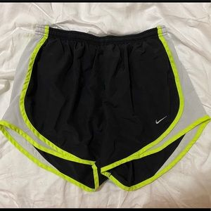 Black and Yellow Nike Dri Fit Athletic Shorts
